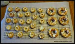 gluten free apple doggy donuts